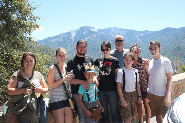 Kraft Family on a Day Trip to Sequoia National Park.